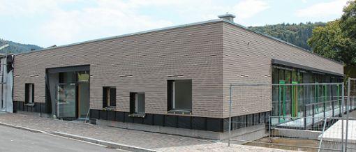 Im Kindergartenneubau in Kandern fehlt noch der Boden, deshalb verzögert sich die Inbetriebnahme.    Foto: Saskia Scherer Foto: Weiler Zeitung