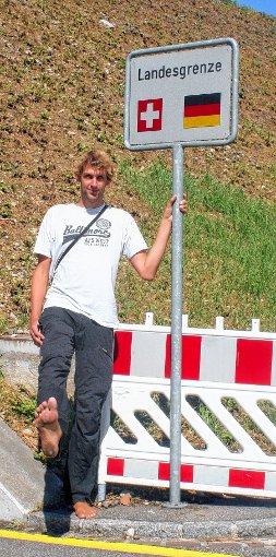 Michael Essing am Grenzübergang in Otterbach     Foto: Alexandra Günzschel Foto: Weiler Zeitung
