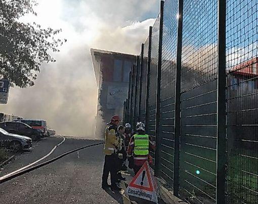 In Birsfelden hat es gestern gebrannt.   Foto: zVg Foto: Die Oberbadische