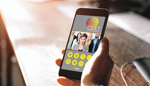 So wird die App aussehen, die im kommenden Jahr erstmals über das Messegelände der Cult führen wird.   Foto: zVg Foto: Die Oberbadische