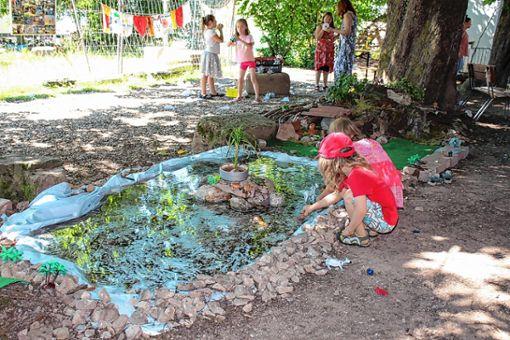 Eine Wildtier- und Wasserlandschaft lud zum Spielen ein.      Foto: Anja Bertsch Foto: Markgräfler Tagblatt