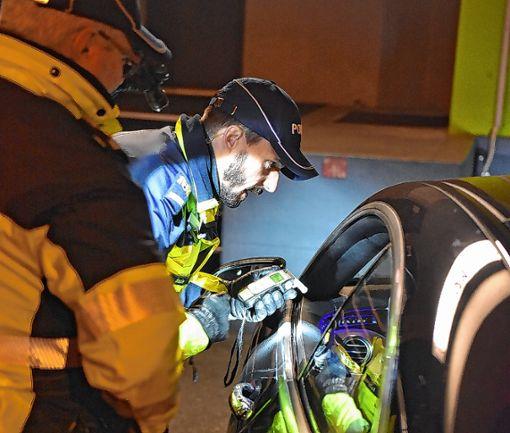 """Im Rahmen der Aktion """"Via"""" führt die Polizei verstärkt Alkoholkontrollen durch.   Fotos: Michael Werndorff Foto: Die Oberbadische"""