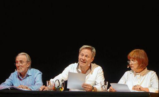 """Die """"Solaristen"""" Urs Bihler, Christian Heller und Doris Wolters. Foto: Jürgen Scharf"""