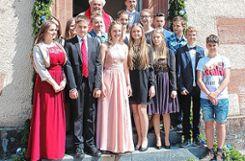 Die Jungen und Mädchen, die in der evangelischen Kirche in Wies konfirmiert wurden. Foto: Markgräfler Tagblatt