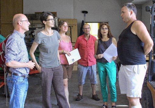 Bernd Murschel und Ina Rosenthal (v. l.) mit weiteren Gästen im Gespräch mit Markus Bürgin (r.)  Foto: Alexandra Günzschel Foto: Weiler Zeitung