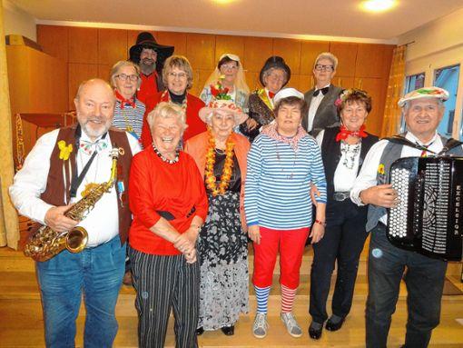 Auch die Hausener Senioren feierten Fasnacht.   Foto: Klaus Brust Foto: Markgräfler Tagblatt