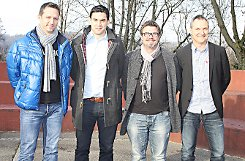 Marc Fiechter (v. l.), Sebastian Neuf, Christoph Wetzel und Thomas Groß freuen sich auf die Zusammenarbeit.    Foto: Markus Greiß Foto: Die Oberbadische