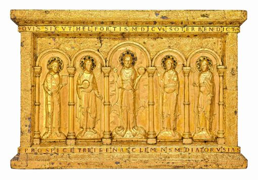Die goldene Altartafel, das bedeutendste Stück des Basler Münsterschatzes, wird im Rahmen einer Ausstellung erstmals seit langem wieder in Basel zu sehen sein. Foto: zVg/RMN-Grand Palais/Michel Urtado