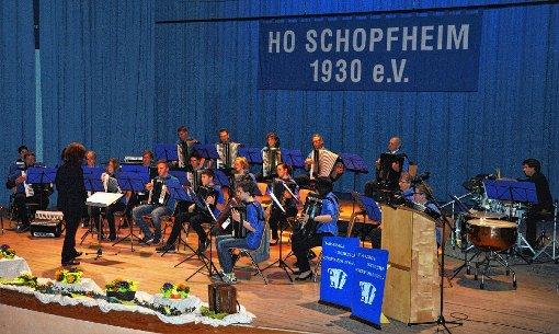 Drehte gewaltig auf: das HOS unter der Leitung von Monika Müller.   Foto: Georg Diehl Foto: Markgräfler Tagblatt