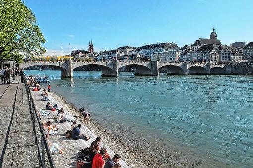 Laut Basler Stadtreinigung hat sich die Müllsituation am Rheinufer deutlich verbessert. Foto: Archiv