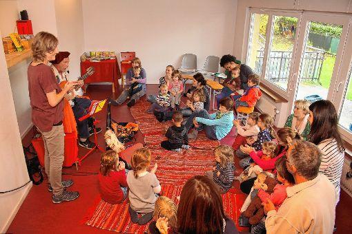"""Musikalische Früherziehung - die """"Zwergenmusik"""" ist eines der Angebote im Schopfheimer Familienzentrum.   Foto:  Anja Bertsch Foto: Markgräfler Tagblatt"""