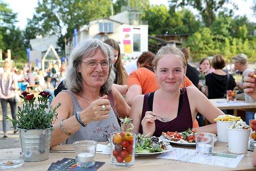 Impressionen vom Kieswerk-Open-Air im Weiler Dreiländergarten. Foto: Oliver Welti Foto: Siegfried Feuchter
