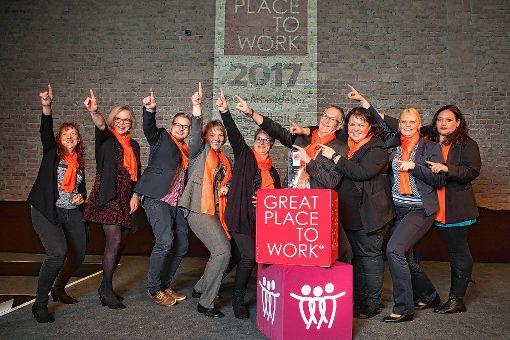 """Die Führungsmannschaft des St. Josefshauses freut sich über die doppelte Auszeichnung als """"Great Place to Work"""".  Foto: zVg Foto: Die Oberbadische"""