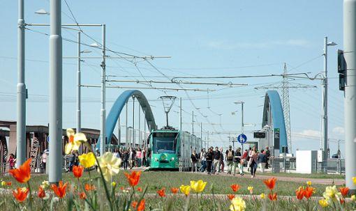 Ob die Tram 8 weiter bis zum Läublinpark fahren wird, ist noch unklar.    Foto: Marco Fraune Foto: Weiler Zeitung
