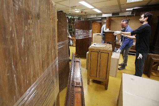 Die Museumsmitarbeiter müssen rund 50000 Objekte  fachgerecht lagern.     Foto: Meller Foto: Die Oberbadische