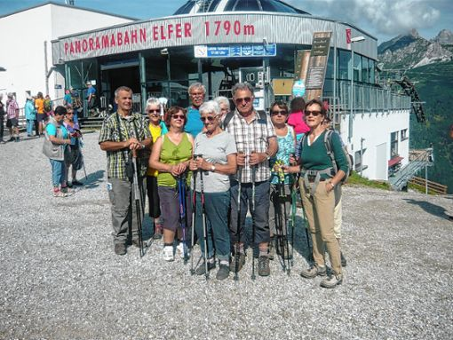Hoch hinaus ging es für den Kanderner Schwarzwaldverein auf seiner Tourenwoche.   Foto: zVg Foto: Weiler Zeitung