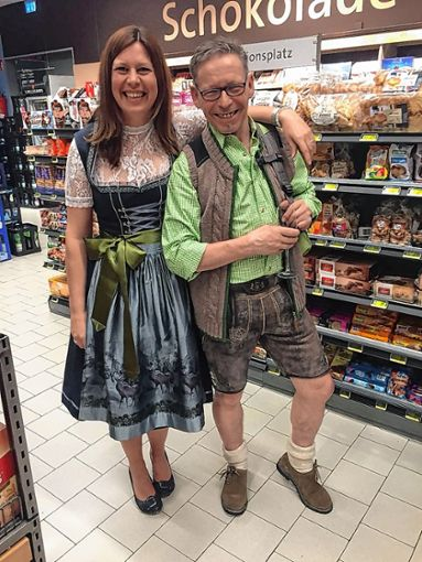 Unter anderem viel Trachtenmode für Sie und Ihn gab es bei der Modenschau im Hieber-Markt zu bestaunen.      Foto: zVg Foto: Weiler Zeitung
