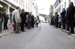 Ein Knackpunkt: die Bushaltestelle in der Grabenstraße. Foto Kristoff Meller Foto: mek
