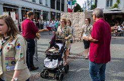 Impressionen des dritten Fronleichnamsgottesdienstes der katholischen Kirchengemeinde auf dem Alten Marktplatz. Foto: Kristoff Meller Foto: mek