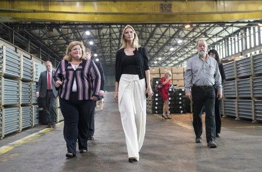 Ivanka Trump auf Wahlkampftour bei Stahlarbeitern in Ohio. Foto: AP