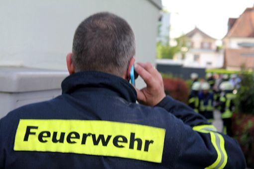 Die Feuerwehr war mit vier Fahrzeugen zur Stelle   .      Foto: Archiv Foto: Die Oberbadische