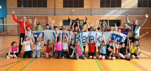 Nicole Grether mit Schülern der Wiesentalschule Maulburg.   Foto: zVg Foto: Markgräfler Tagblatt