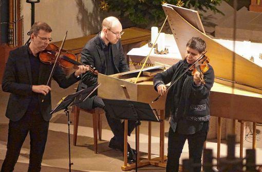 Das soeben mit dem Opus Klassik-Preis ausgezeichnete Ensemble Capricornus Consort Basel sorgte bei den Eichsler Silvesterkonzerten für einen festlichen Jahresausklang. Foto: Jürgen Scharf