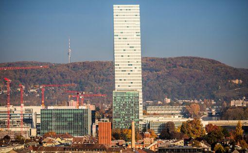 Das Gespräch fand im Roche-Turm statt. Foto: Meller