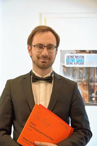 Junges Talent: Organist Dominic Cerrito gestaltet  die nächste Marktmusik.   Foto: zVg Foto: Markgräfler Tagblatt