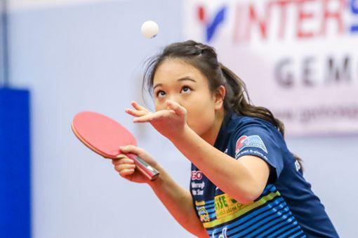 Ganz stark: Qian Wan gewinnt beide Einzel. Foto: Grant Hubbs