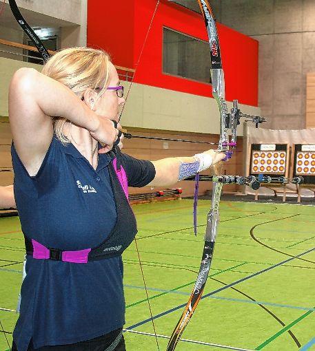 Elisabeth Keßler ist  erfolgreichste Zeller Schützin beim ersten Regionalliga-Wettkampf in Zell.     Foto: Ralph Lacher Foto: Die Oberbadische