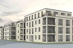 """Der Bauausschuss ließ sich vor Ort im Gemeindehaus über die Pläne des """"Johannesquartier"""" informieren.   Foto: Siegfried Feuchter Foto: Weiler Zeitung"""