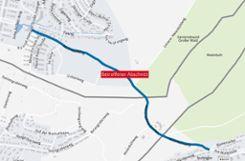 Der Maienbühlweg zwischen Stetten und Inzlingen. Foto: Die Oberbadische/Maps4News/HERE