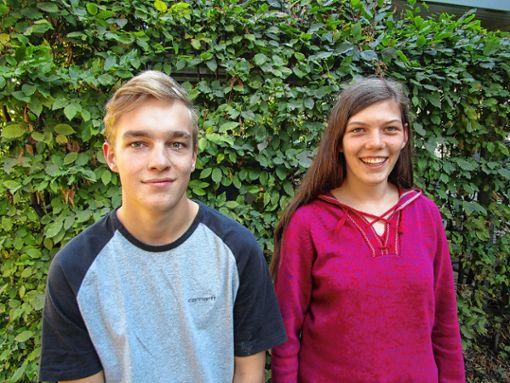 Mareike Walter und Florian Sänger forschten in den Ferien.    Foto: zVg Foto: Weiler Zeitung