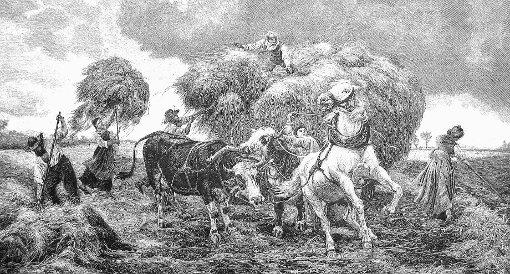 Die Idylle trügt: Das Leben der ländlichen Bevölkerung im 17. und 18. Jahrhundert war geprägt von Hunger, Krieg, Frondiensten und Willkür.                                                                            Repro: Werner Störk Foto: Markgräfler Tagblatt