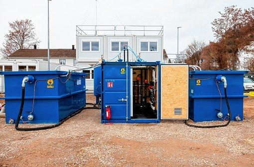 Die mehrstufige Abwasserreinigungsanlage auf dem Roche-Perimeter der Bodenaltlast Keßlergrube ist   in Betrieb genommen worden.   Foto: zVg/Roche Foto: Die Oberbadische