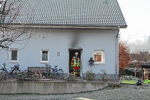 Die Feuerwehr hatte den Brand schnell unter Kontrolle.               Foto: Ingmar Lorenz Foto: Markgräfler Tagblatt
