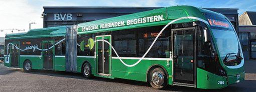 Der neue E-Bus kommt aus den Niederlanden. Foto: zVg/BVB