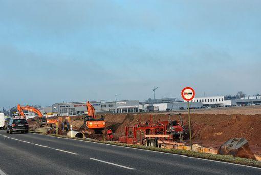 """Erschließungsarbeiten für das Baugebiet """"Sengern"""" in Rheinfelden-Herten haben bereits begonnen. Foto: Vollmar"""