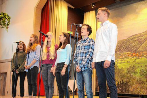 Das Gesangsensemble umrahmte die Preisverleihung. Foto: Markgräfler Tagblatt