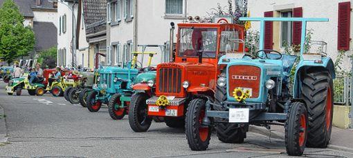 Der Verein der  Traktorenfreunde stellt am Sonntag von  13 bis 17 Uhr historische Fahrzeuge  aus den 30er- bis 70er-Jahren im Schlosspark zur Schau. Foto: Weiler Zeitung