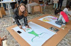 Beim Sommerfest in der Fondation Beyeler konnten die Besucher ihre Kreativität auf vielerlei Weise ausleben.    Fotos: Adrian Steineck Foto: Die Oberbadische