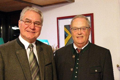 Hegeringleiter Roland Heller (l.) und sein Stellvertreter Christoph Threde wurden für vier Jahre gewählt.  Foto: zVg Foto: Die Oberbadische