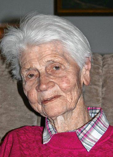 Anneliese Zenn wird heute 90 Jahre alt.   Foto: Ralph Lacher Foto: Markgräfler Tagblatt