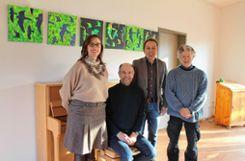 Das Foto zeigt (v.l.): Iris Teulière, Axel Rulf, Bernd Schandera und Sebastian Kaltenbach. Foto: Denis Bozbag