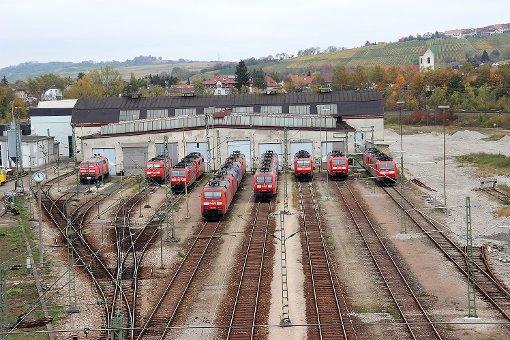 Blick auf das Bahnbetriebswerk   Foto: Siegfried Feuchter Foto: Weiler Zeitung