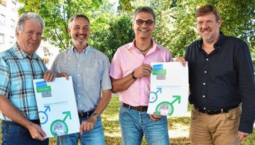 Freuen sich auf den 7. Männertag (von links): Dietmar Schimmer, Michael Heim, Ralf Ochs und Bernhard Lindner.     Foto: Michael Werndorff Foto: Die Oberbadische