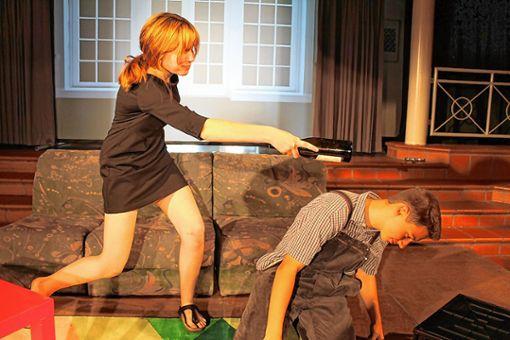 Szene aus der Theaterprobe.    Foto: zVg Foto: Weiler Zeitung