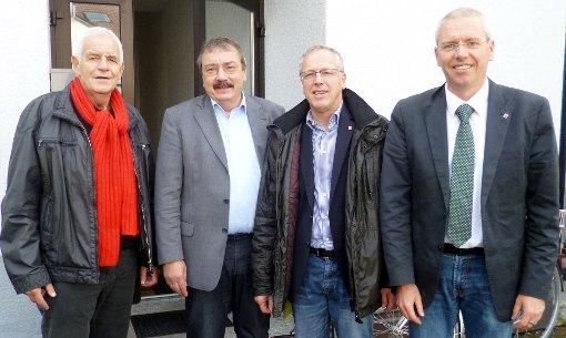Thematisierten aktuelle Herausforderungen: Rainer Stickelberger, Peter Kiefer, Michael Karmann und Andreas Haug   Foto: zVg Foto: Die Oberbadische