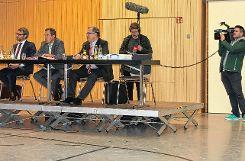 Auch das mediale Interesse an der Veranstaltung war groß. Foto: Weiler Zeitung